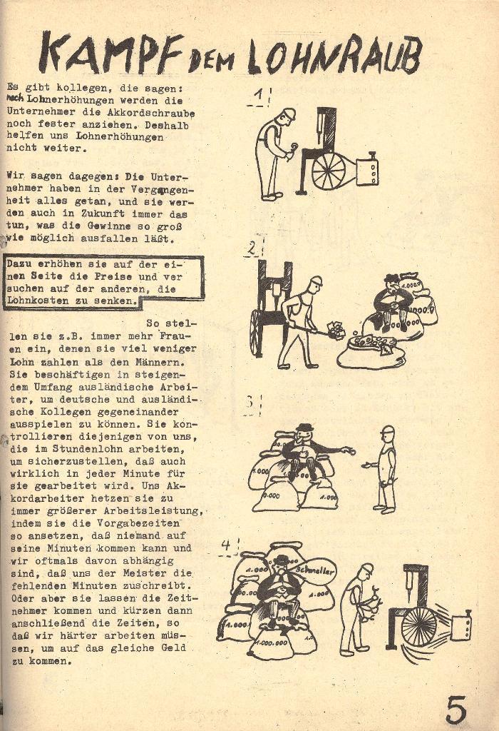 Die Sache der Arbeiter, Nr. 5, Aug./Sept. 1970, Seite 5