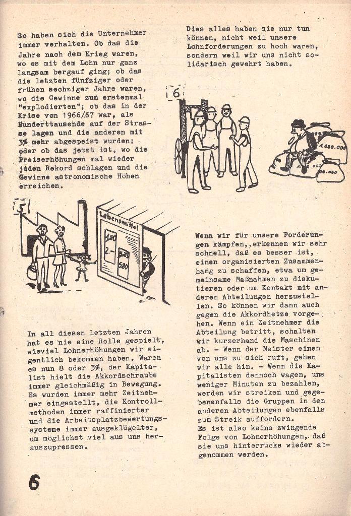 Die Sache der Arbeiter, Nr. 5, Aug./Sept. 1970, Seite 6