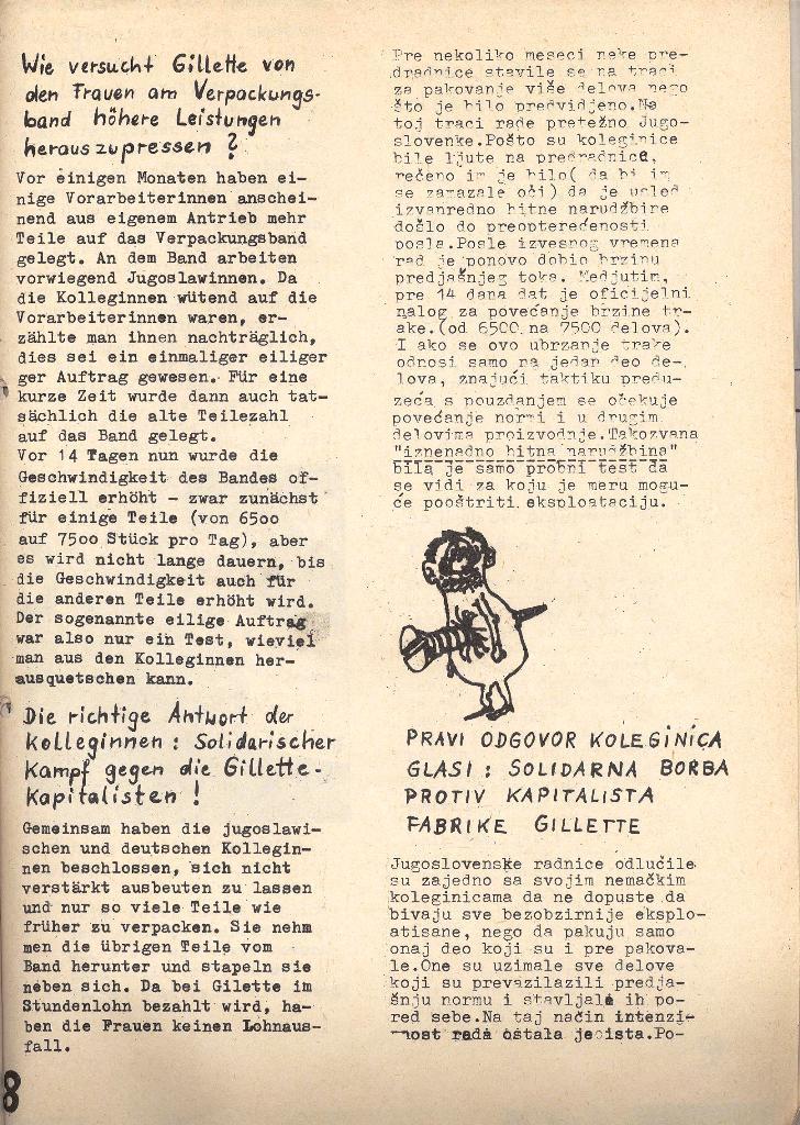 Die Sache der Arbeiter, Nr. 5, Aug./Sept. 1970, Seite 8