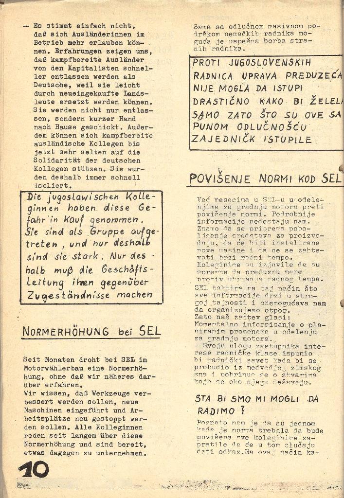 Die Sache der Arbeiter, Nr. 5, Aug./Sept. 1970, Seite 10