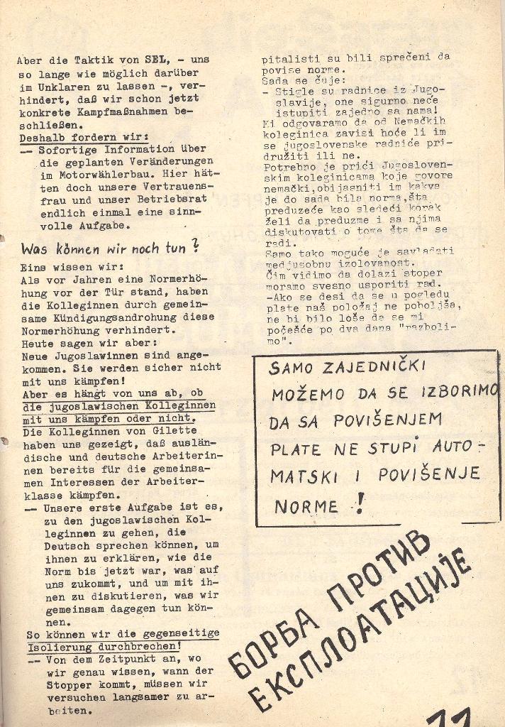 Die Sache der Arbeiter, Nr. 5, Aug./Sept. 1970, Seite 11