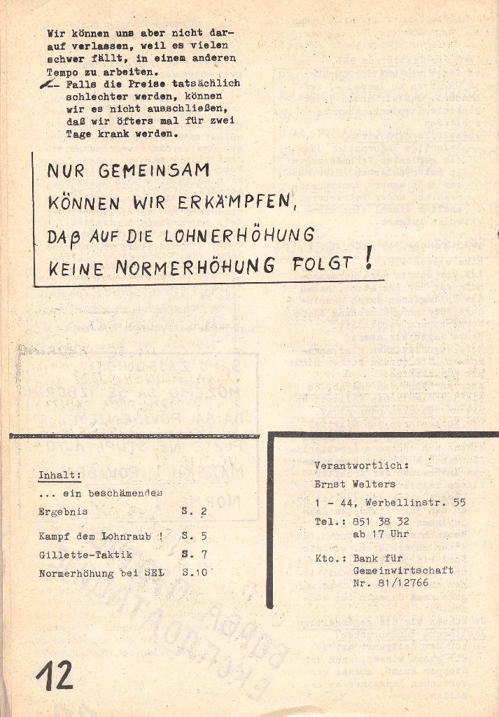 Die Sache der Arbeiter, Nr. 5, Aug./Sept. 1970, Seite 12