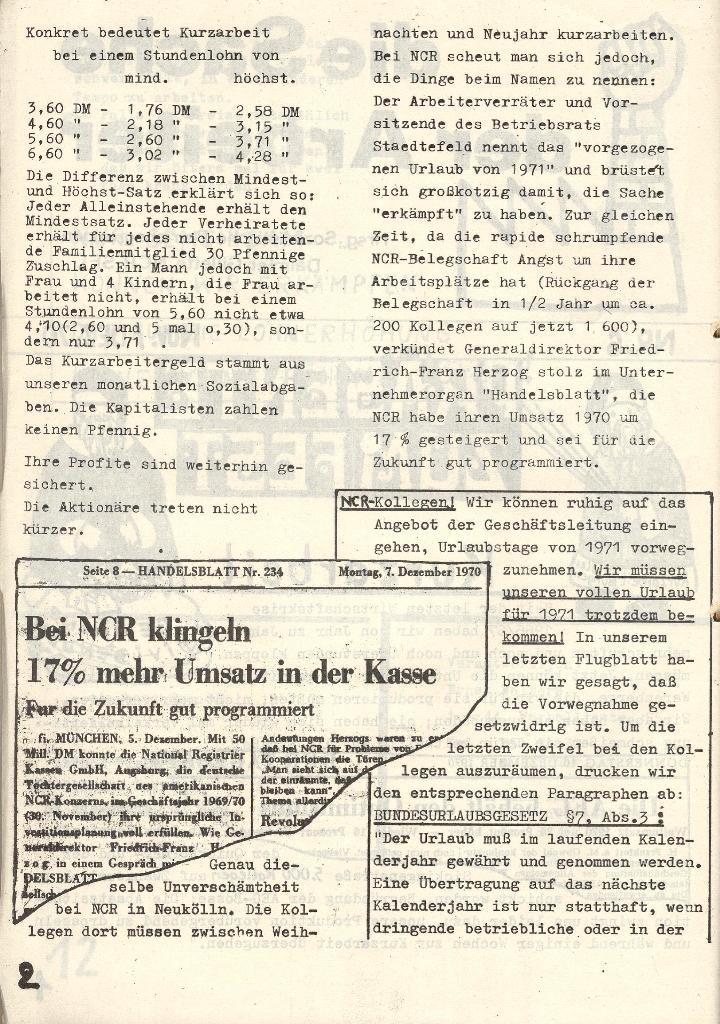 Die Sache der Arbeiter, Nr. 6, Nov./Dez. 1970, Seite 2