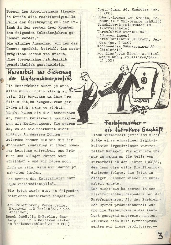 Die Sache der Arbeiter, Nr. 6, Nov./Dez. 1970, Seite 3