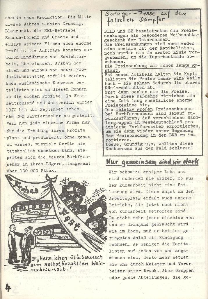 Die Sache der Arbeiter, Nr. 6, Nov./Dez. 1970, Seite 4