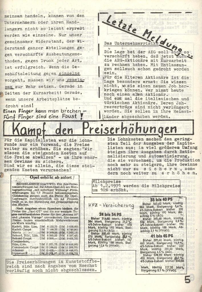 Die Sache der Arbeiter, Nr. 6, Nov./Dez. 1970, Seite 5