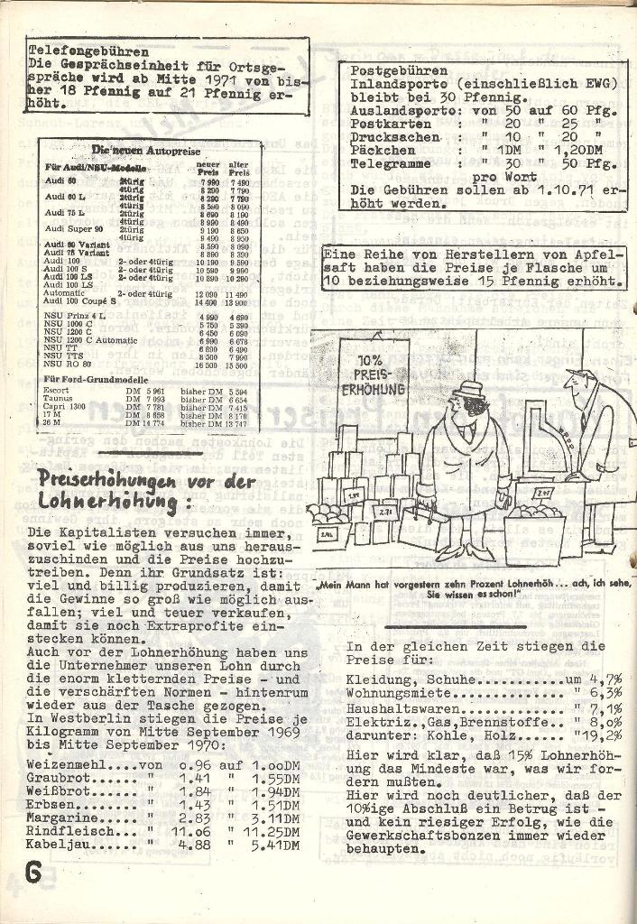 Die Sache der Arbeiter, Nr. 6, Nov./Dez. 1970, Seite 6