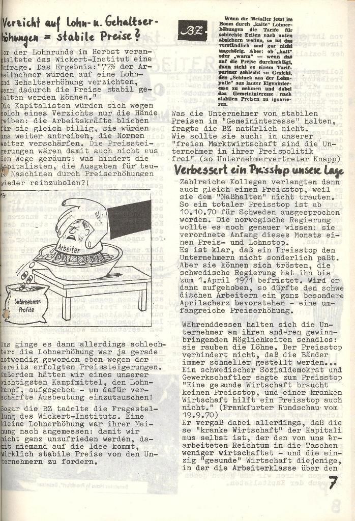 Die Sache der Arbeiter, Nr. 6, Nov./Dez. 1970, Seite 7