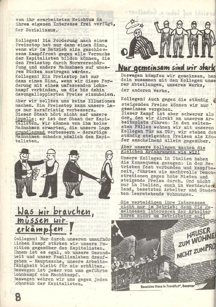 Die Sache der Arbeiter, Nr. 6, Nov./Dez. 1970, Seite 8