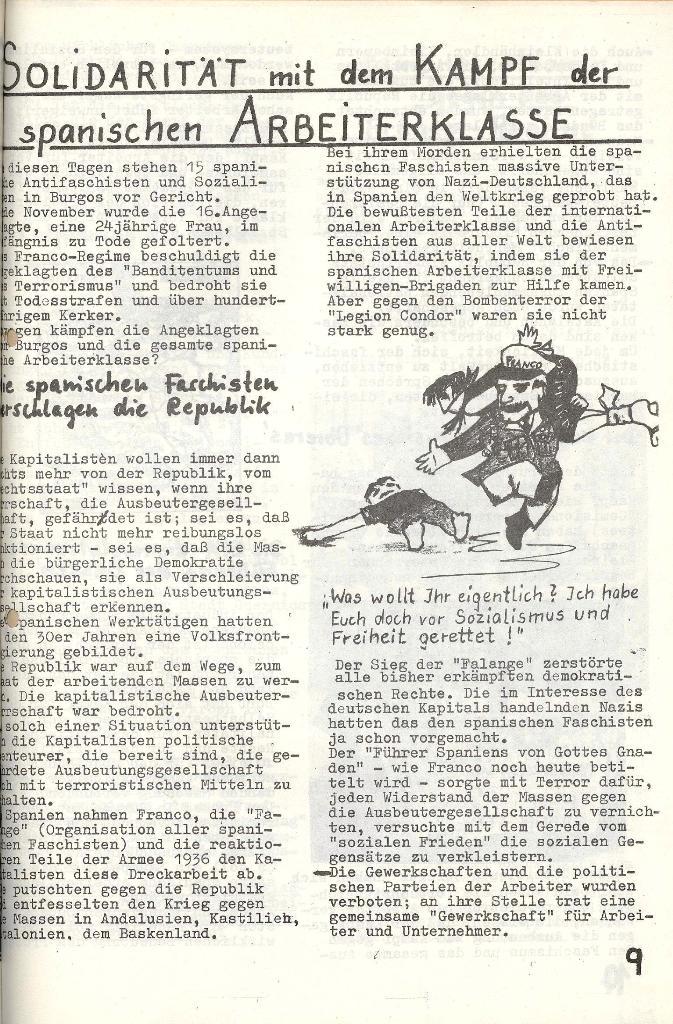 Die Sache der Arbeiter, Nr. 6, Nov./Dez. 1970, Seite 9