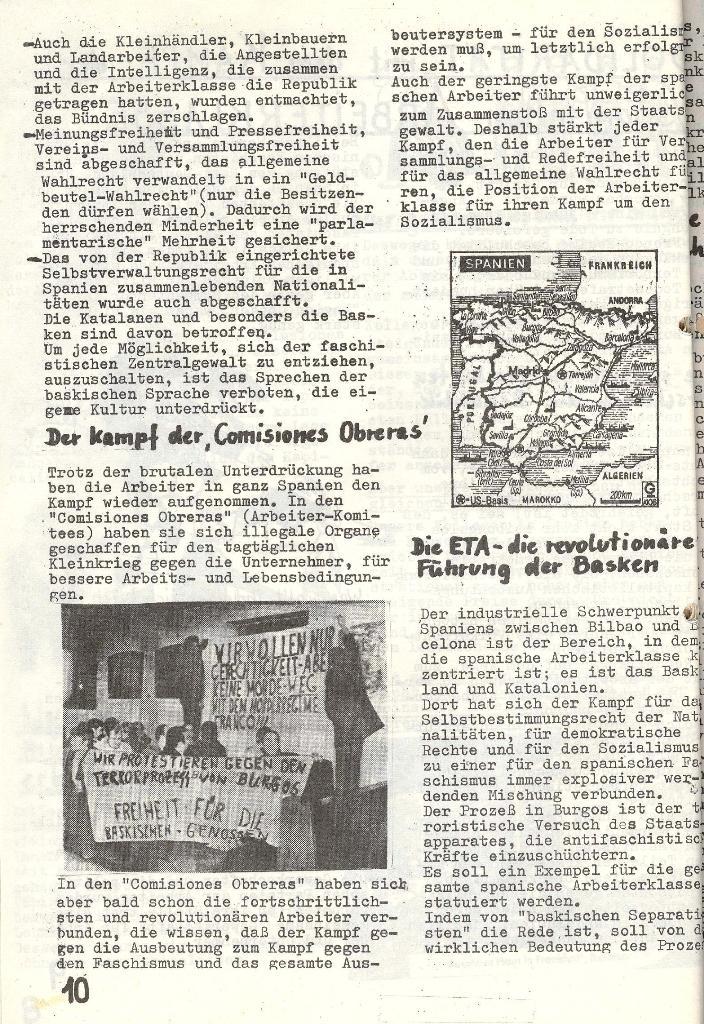Die Sache der Arbeiter, Nr. 6, Nov./Dez. 1970, Seite 10