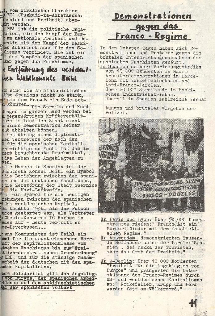 Die Sache der Arbeiter, Nr. 6, Nov./Dez. 1970, Seite 11