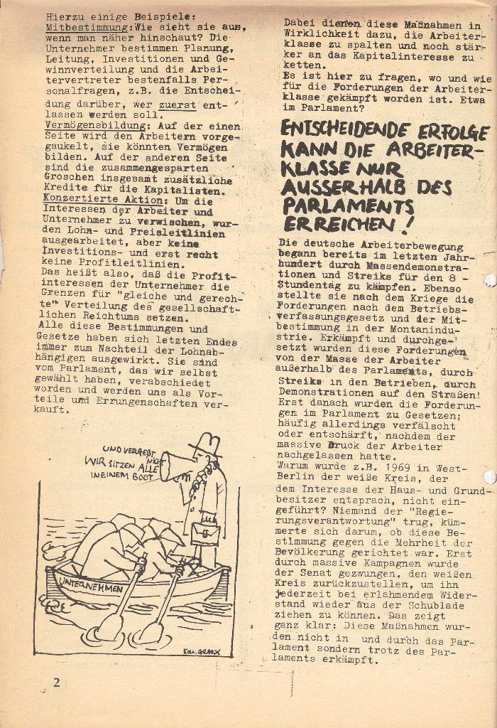 Die Sache der Arbeiter, Nr. 7, März 1971, Seite 2