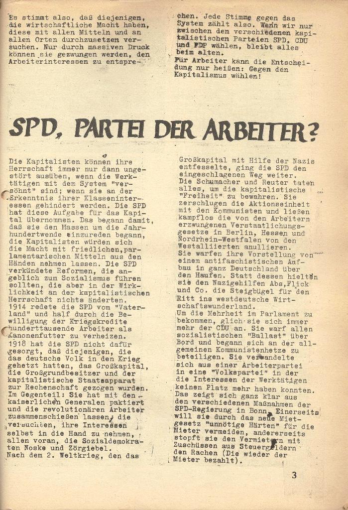Die Sache der Arbeiter, Nr. 7, März 1971, Seite 3