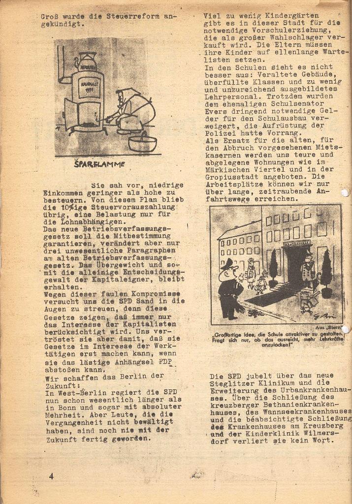 Die Sache der Arbeiter, Nr. 7, März 1971, Seite 4