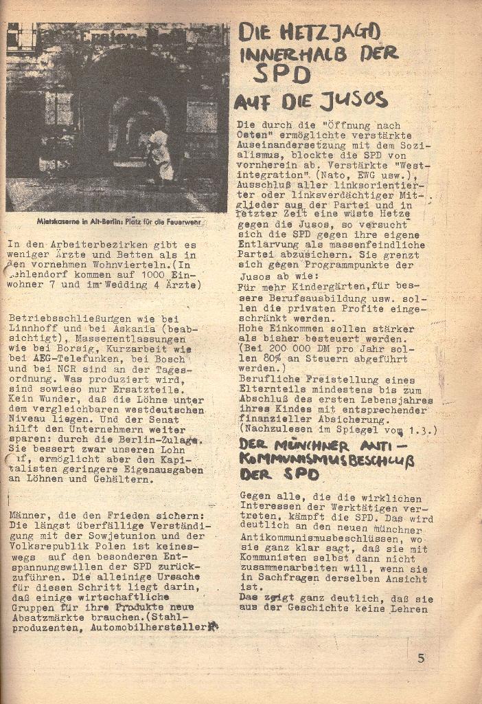 Die Sache der Arbeiter, Nr. 7, März 1971, Seite 5