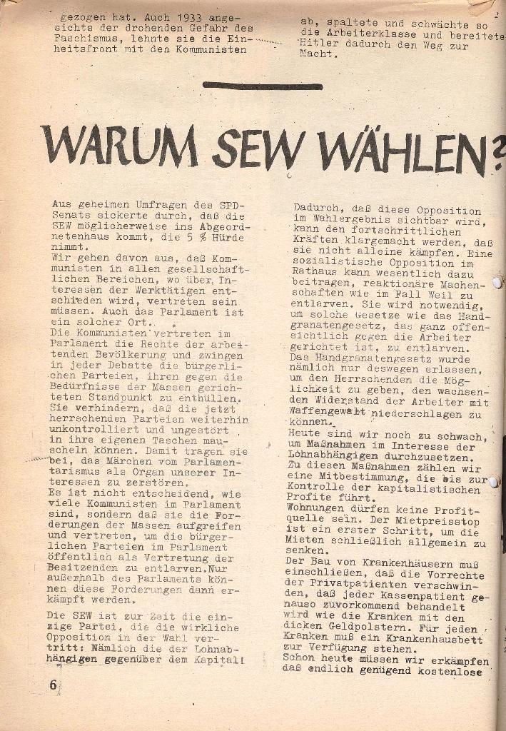 Die Sache der Arbeiter, Nr. 7, März 1971, Seite 6