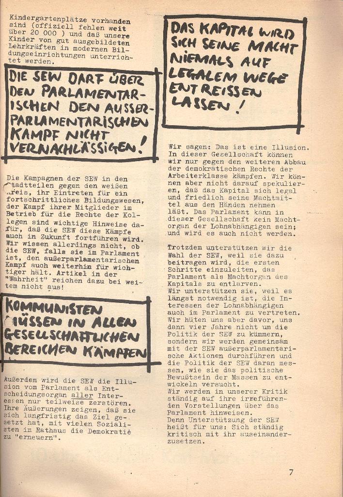 Die Sache der Arbeiter, Nr. 7, März 1971, Seite 7