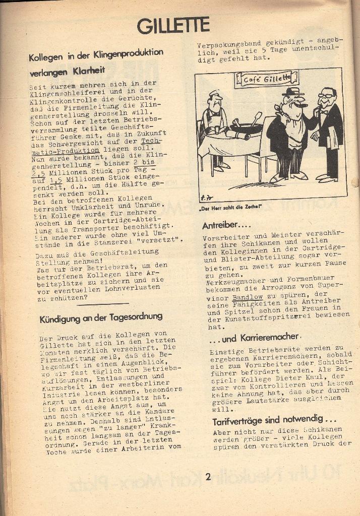 Die Sache der Arbeiter, Nr. 8, April 1971, Seite 2