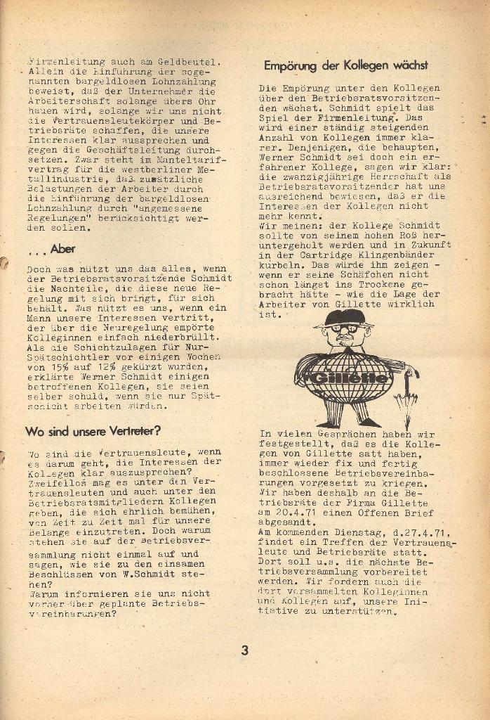 Die Sache der Arbeiter, Nr. 8, April 1971, Seite 3