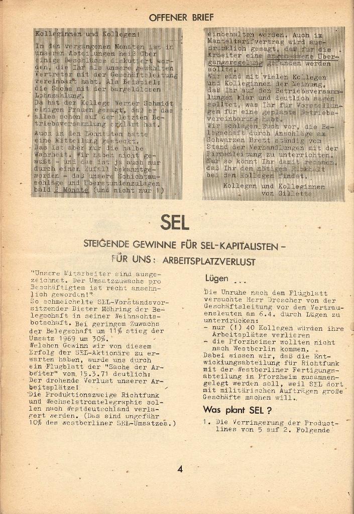 Die Sache der Arbeiter, Nr. 8, April 1971, Seite 4