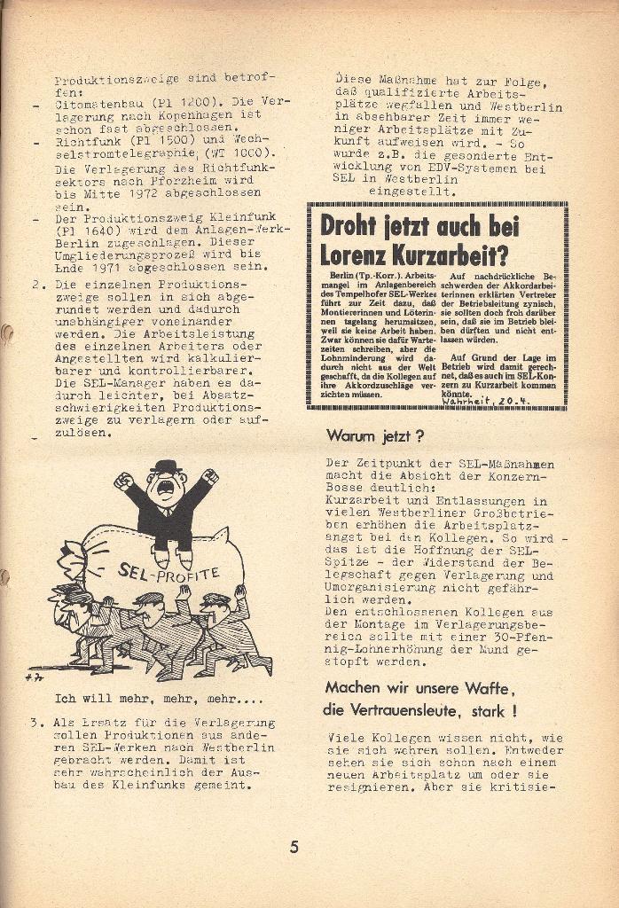 Die Sache der Arbeiter, Nr. 8, April 1971, Seite 5