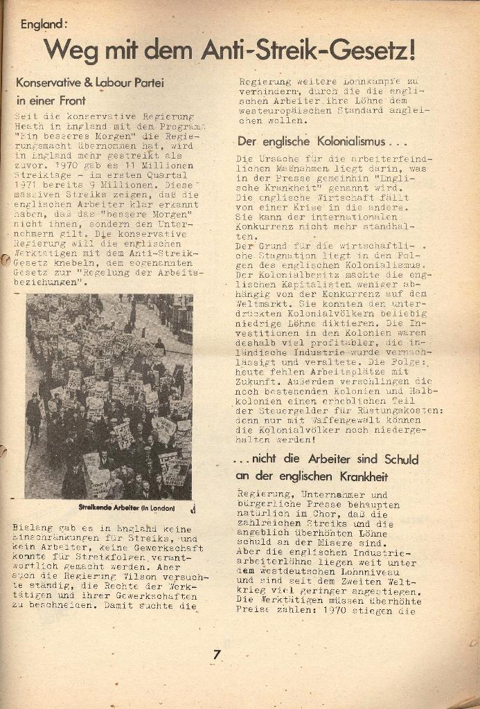 Die Sache der Arbeiter, Nr. 8, April 1971, Seite 7