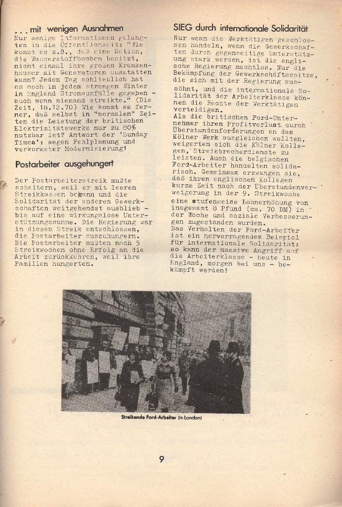 Die Sache der Arbeiter, Nr. 8, April 1971, Seite 9