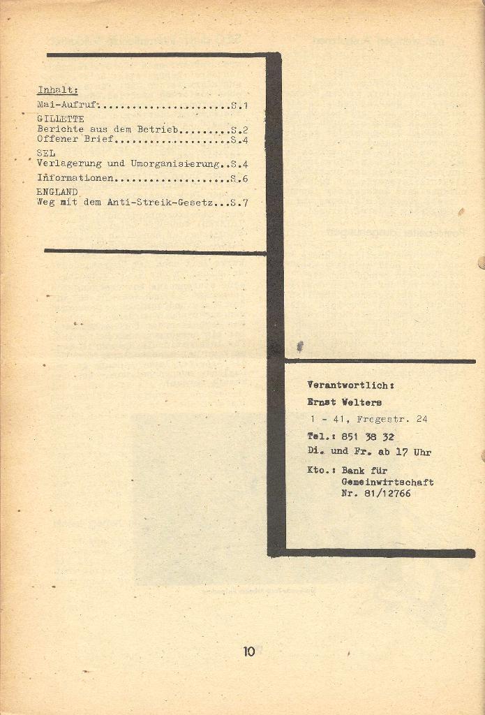 Die Sache der Arbeiter, Nr. 8, April 1971, Seite 10