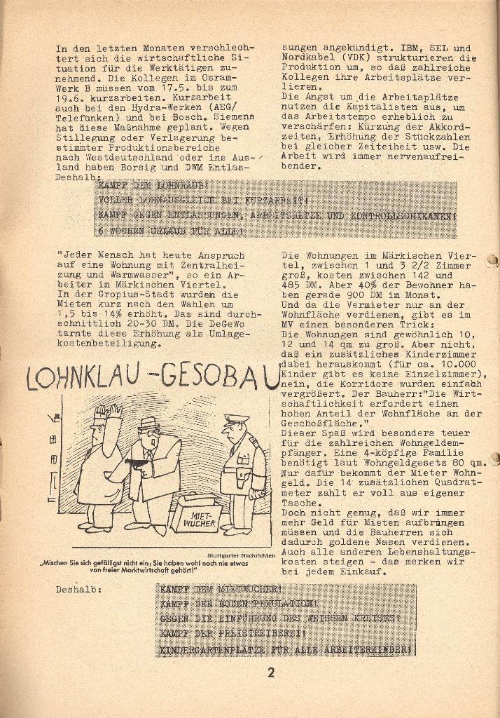 Die Sache der Arbeiter, Nr. 9, April 1971, Seite 2