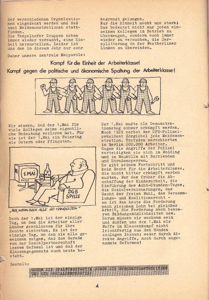 Die Sache der Arbeiter, Nr. 9, April 1971, Seite 4