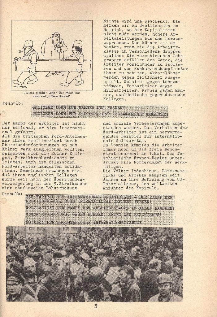 Die Sache der Arbeiter, Nr. 9, April 1971, Seite 5