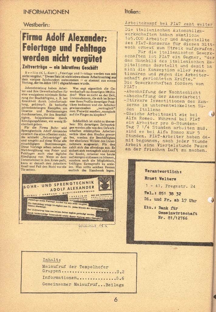 Die Sache der Arbeiter, Nr. 9, April 1971, Seite 6
