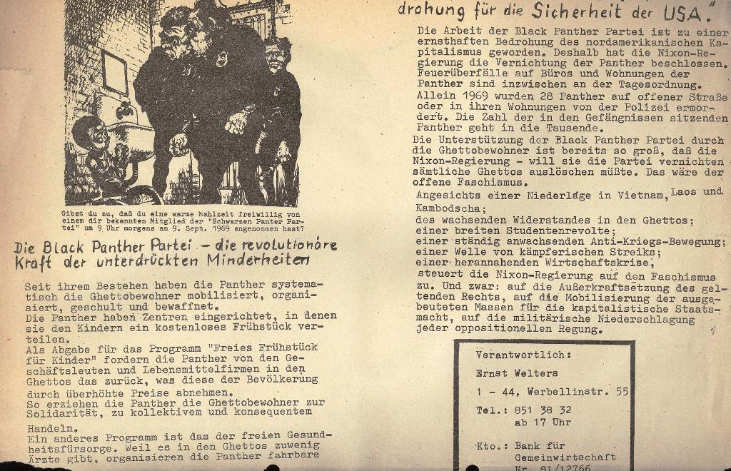 Die Sache der Arbeiter, Extrablatt, 1971, Seite 2 unten