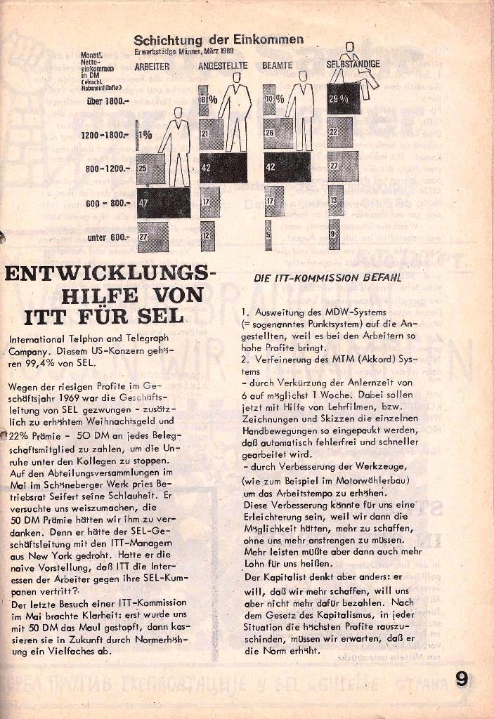 Ausschnitt aus: Die Sache der Arbeiter, Nr. 4, Juni/Juli 1970, Seite 9