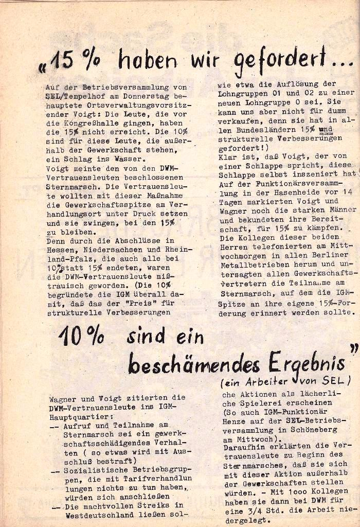 Ausschnitt aus: Die Sache der Arbeiter, Nr. 5, Aug./Sept. 1970, Seite 2