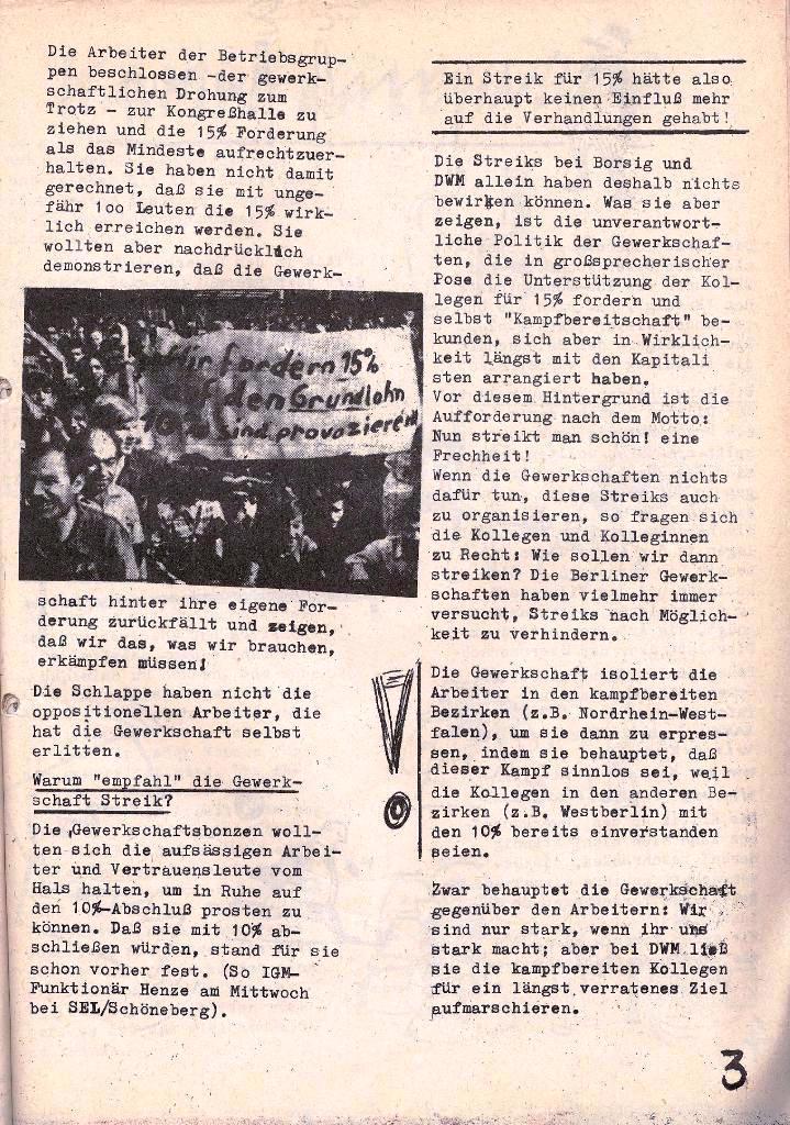 Ausschnitt aus: Die Sache der Arbeiter, Nr. 5, Aug./Sept. 1970, Seite 3