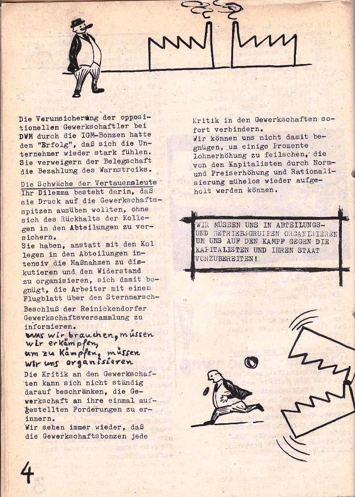 Ausschnitt aus: Die Sache der Arbeiter, Nr. 5, Aug./Sept. 1970, Seite 4