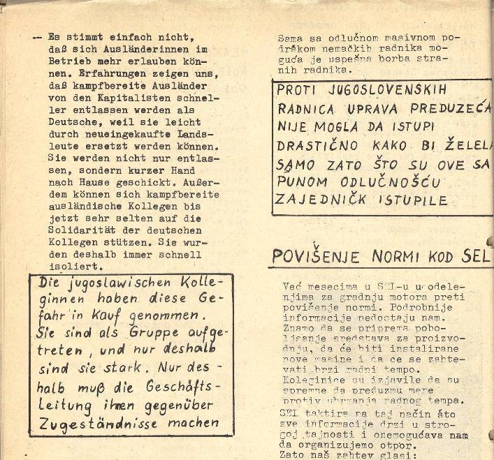 Ausschnitt aus: Die Sache der Arbeiter, Nr. 5, Aug./Sept. 1970, Seite 10