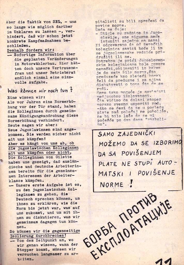 Ausschnitt aus: Die Sache der Arbeiter, Nr. 5, Aug./Sept. 1970, Seite 11
