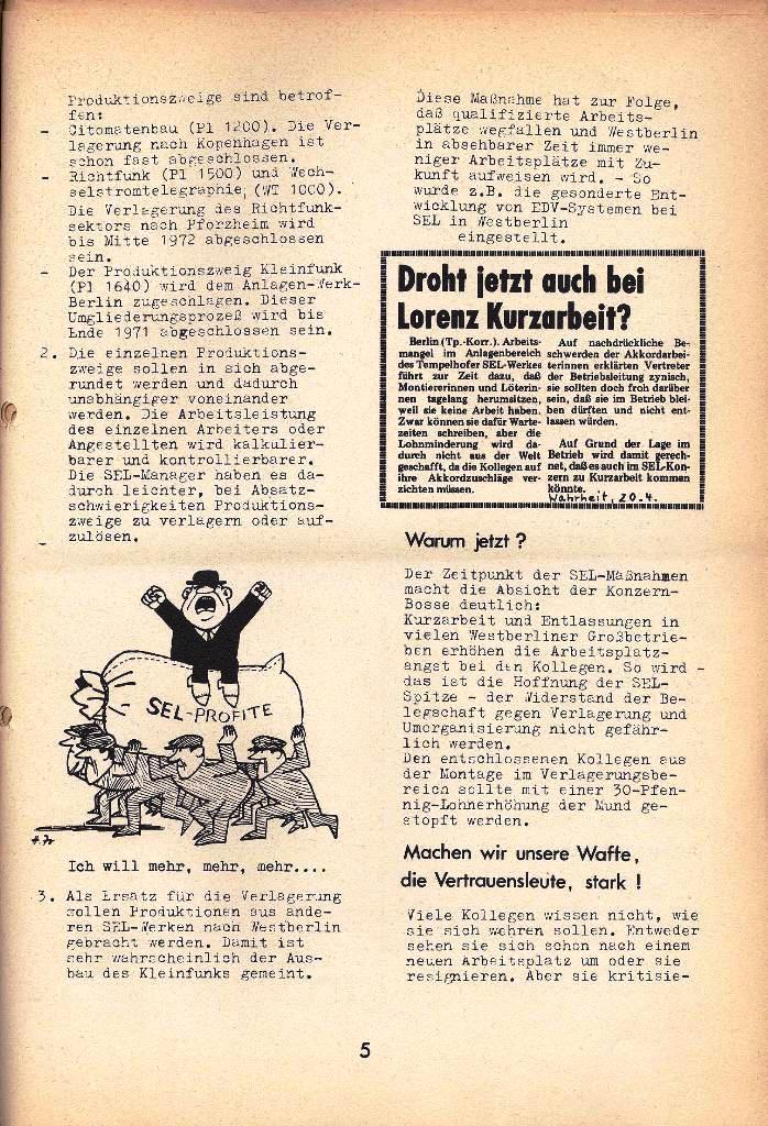 Ausschnitt aus: Die Sache der Arbeiter, Nr. 8, April 1971, Seite 5