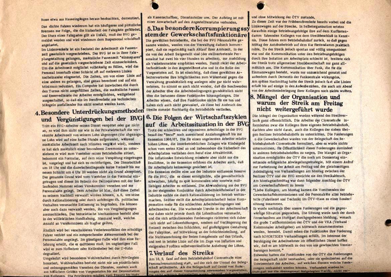 Arbeiterpresse, hg. von der Arbeiterkonferenz, Redaktion: BVG_Betriebsgruppe (Rückseite, oben)