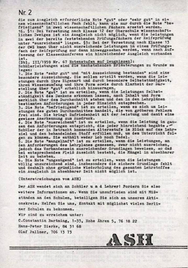 ASH, März 1968, Nr. 2, Seite 2