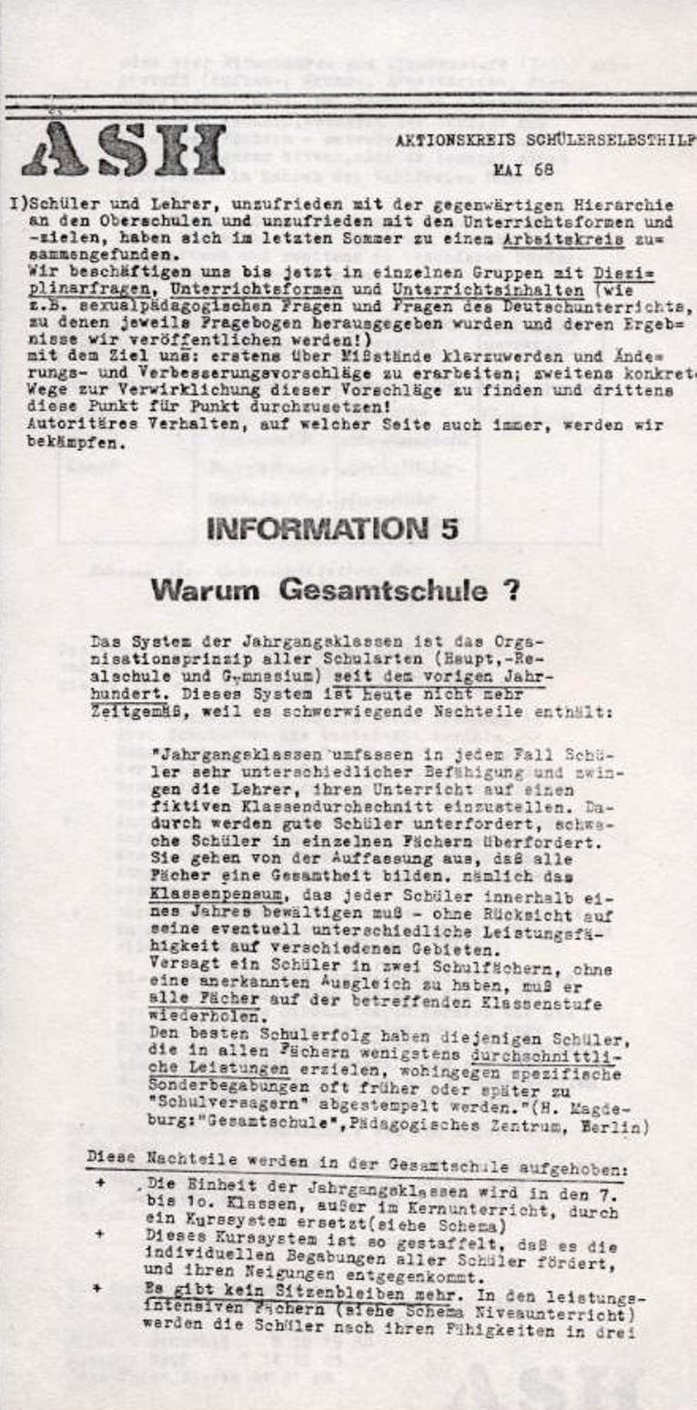 ASH, Mai 1968, Nr. 5, Seite 1