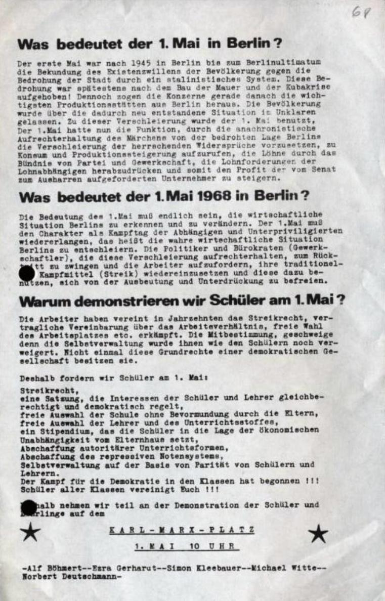 Flugblatt: Was bedeutet der 1. Mai in Berlin?