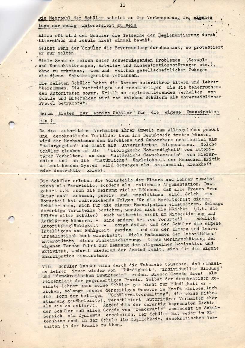 Kritische Universität, 1968, Seite 2