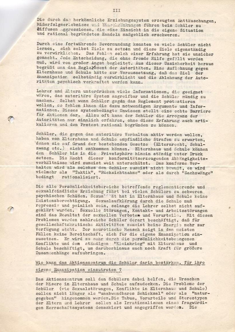 Kritische Universität, 1968, Seite 3