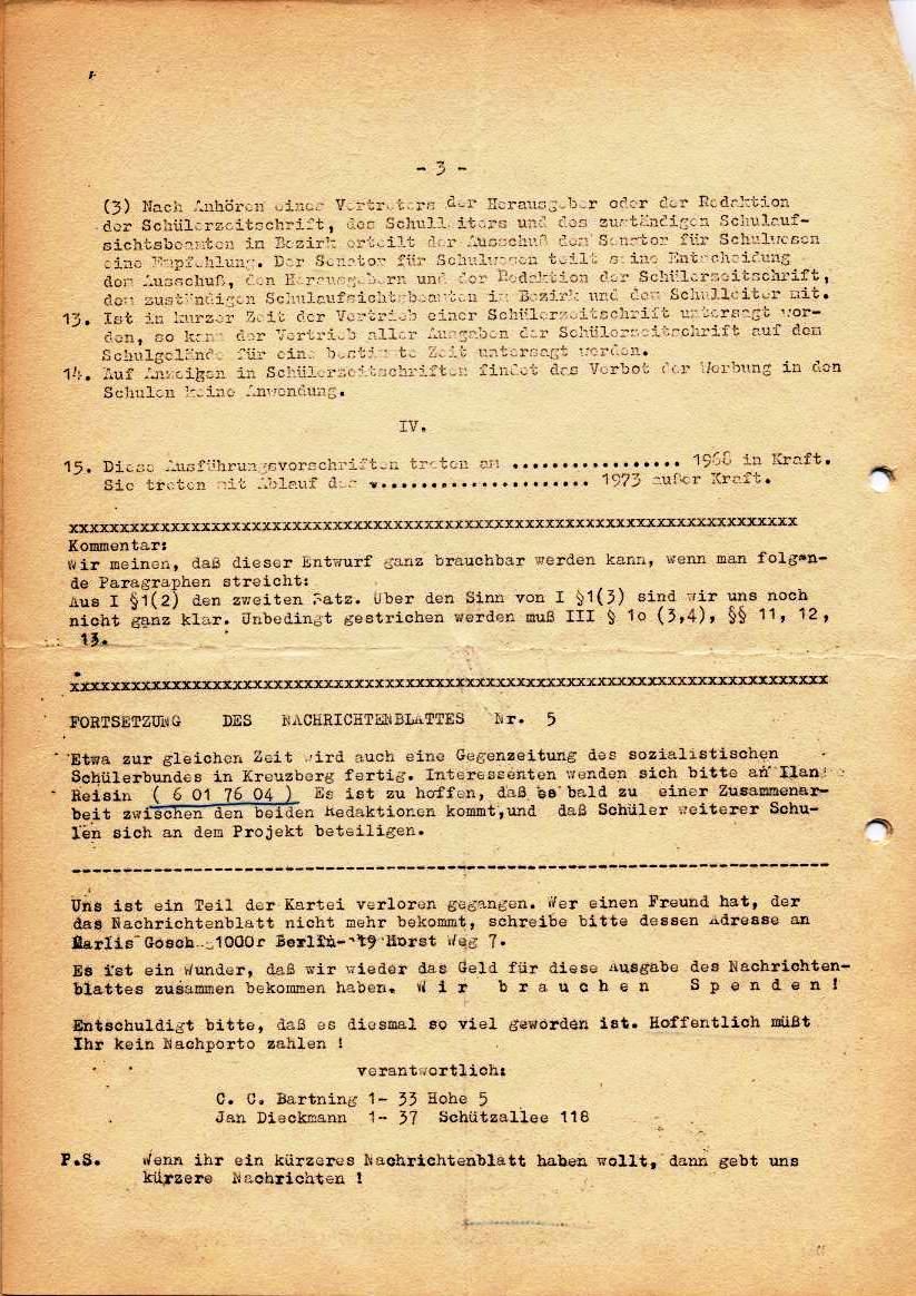 Nachrichtenblatt, Nr. 5, Berlin, 1968, Seite 4
