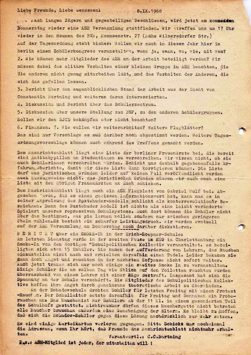 Nachrichtenblatt, Nr. 5, Berlin, 1968, Seite 5