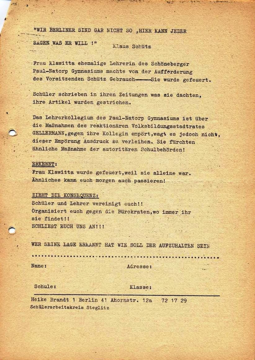 Nachrichtenblatt, Nr. 5, Berlin, 1968, Seite 7